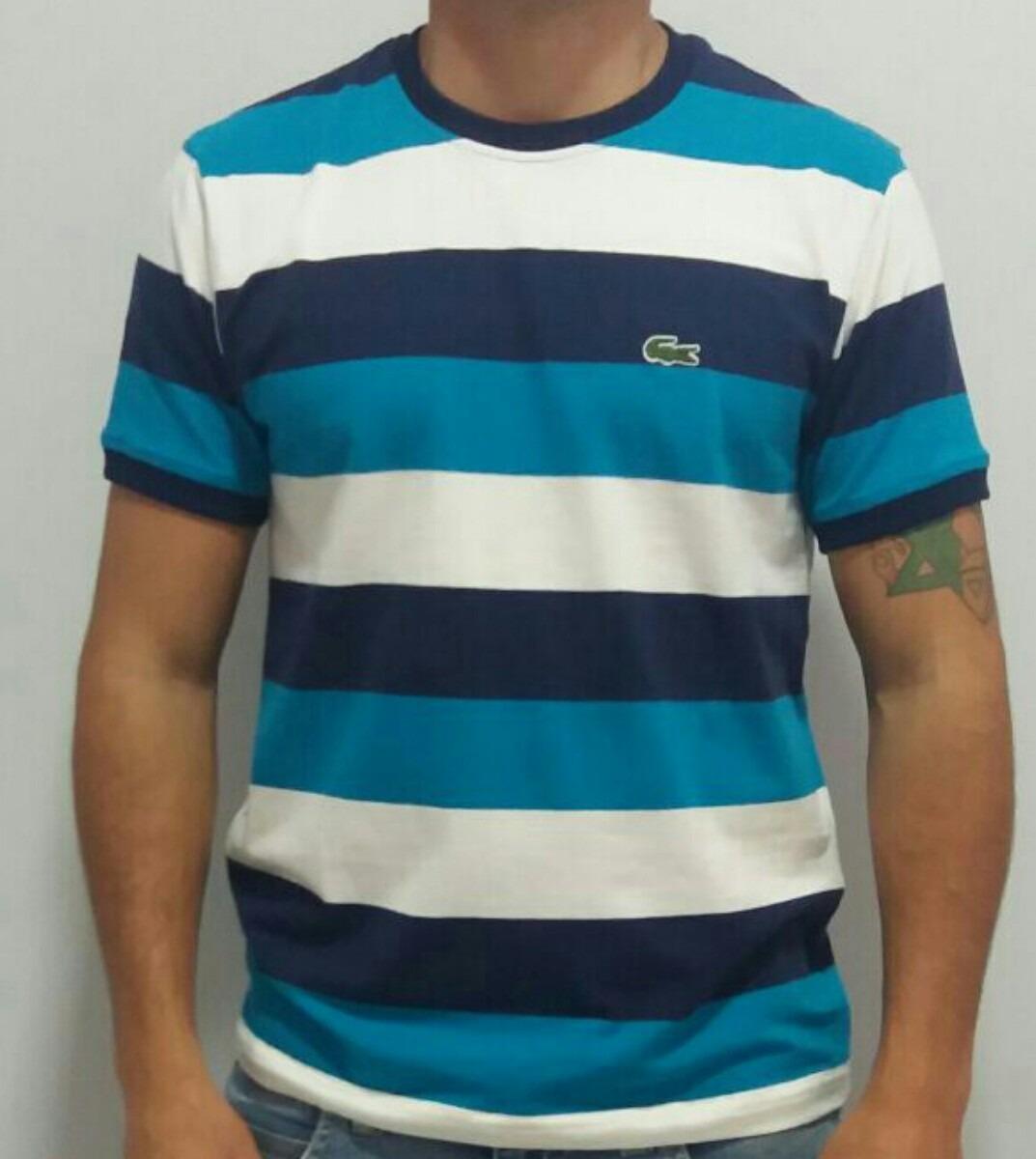 Camisa Lacoste Listrada Original R 119 90 Em Mercado Livre
