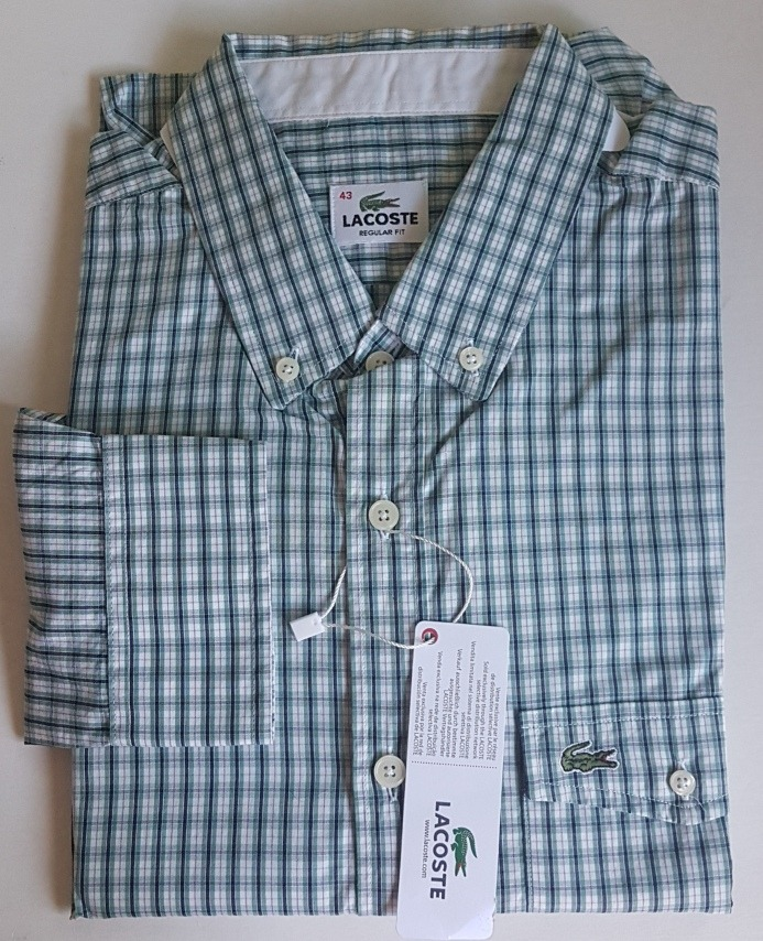 camisa lacoste manga longa xadrez original regular fit. Carregando zoom. 33fda0faad