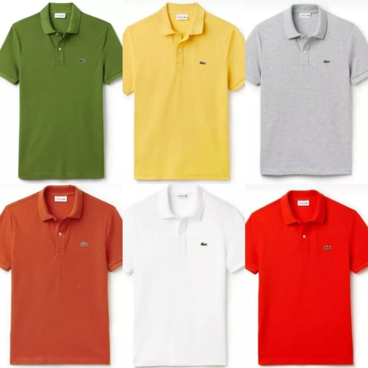 584449a225e31 Camisa Lacoste Polo Jacaré Kit C 10 70% Em Off - R  250