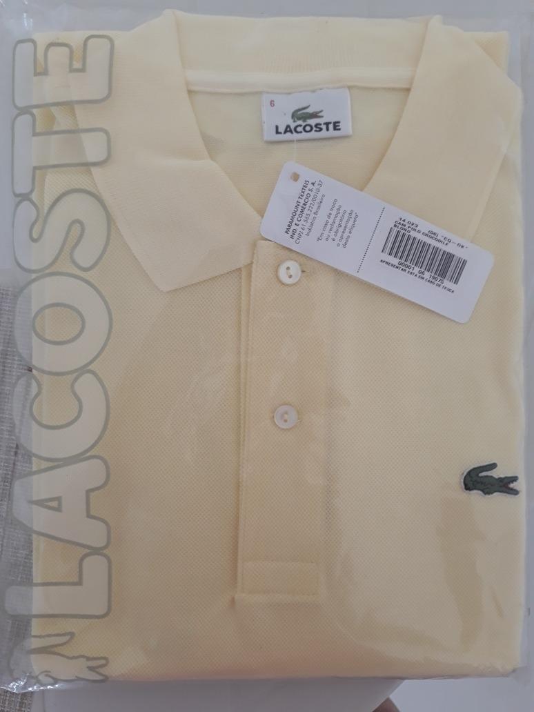 d46de21217154 Camisa Lacoste Polo Nova Com Etiqueta - R  110,00 em Mercado Livre