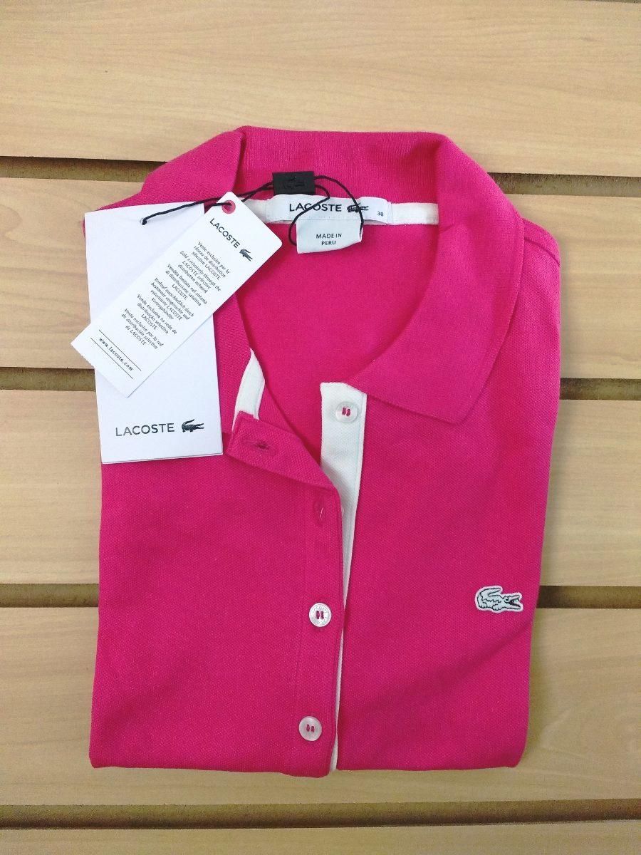 8e6659fadb2 Camisa Lacoste Polo Rosa Feminina Tam 38.original.imbatível. - R ...