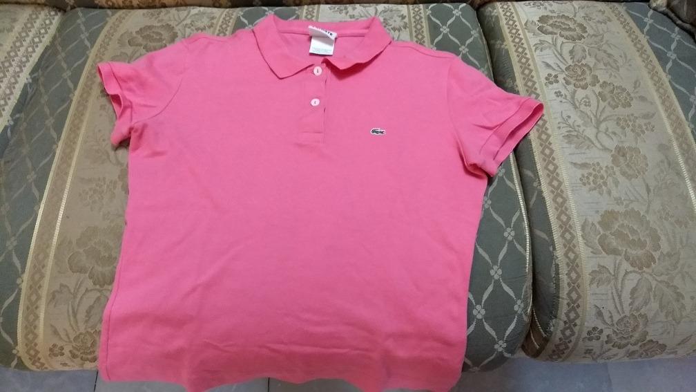 Camisa Lacoste Rosa Dama Talla 40 M -   550.00 en Mercado Libre e6c7797a2ca52