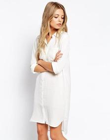 c317be7d8d2 Camisa Larga Seda Blanca Dama - Ropa y Accesorios en Mercado Libre Argentina