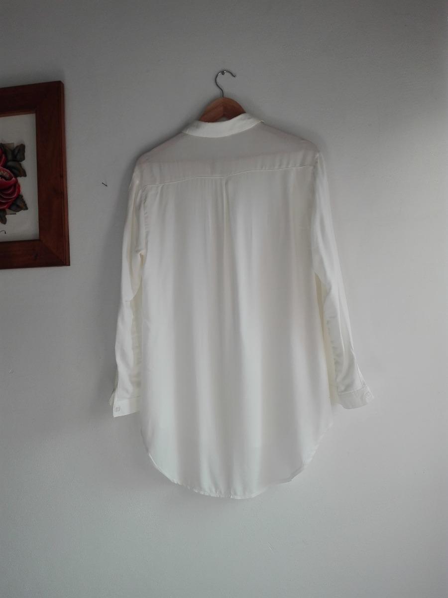 83c78ad6d6e81 Camisola Camisa Larga De Mujer Blanca Rayon -   575