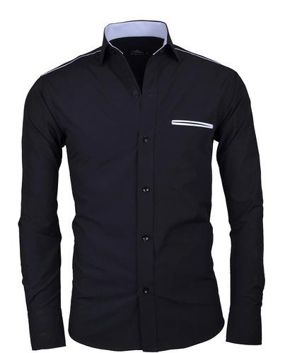 camisa lcc103 black la chaqueteria