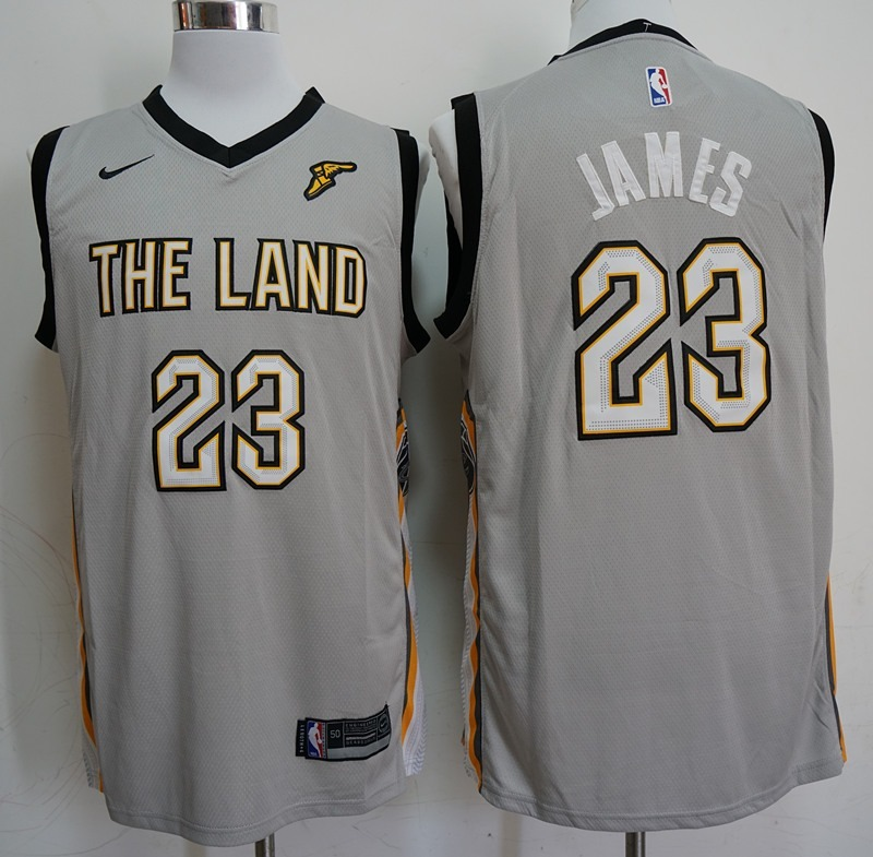 camisa lebron james cleveland cavaliers cinza - frete gratis. Carregando  zoom. 623ed2abadd0c