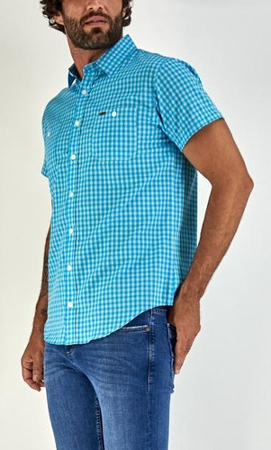 camisa lee hombre manga corta r40