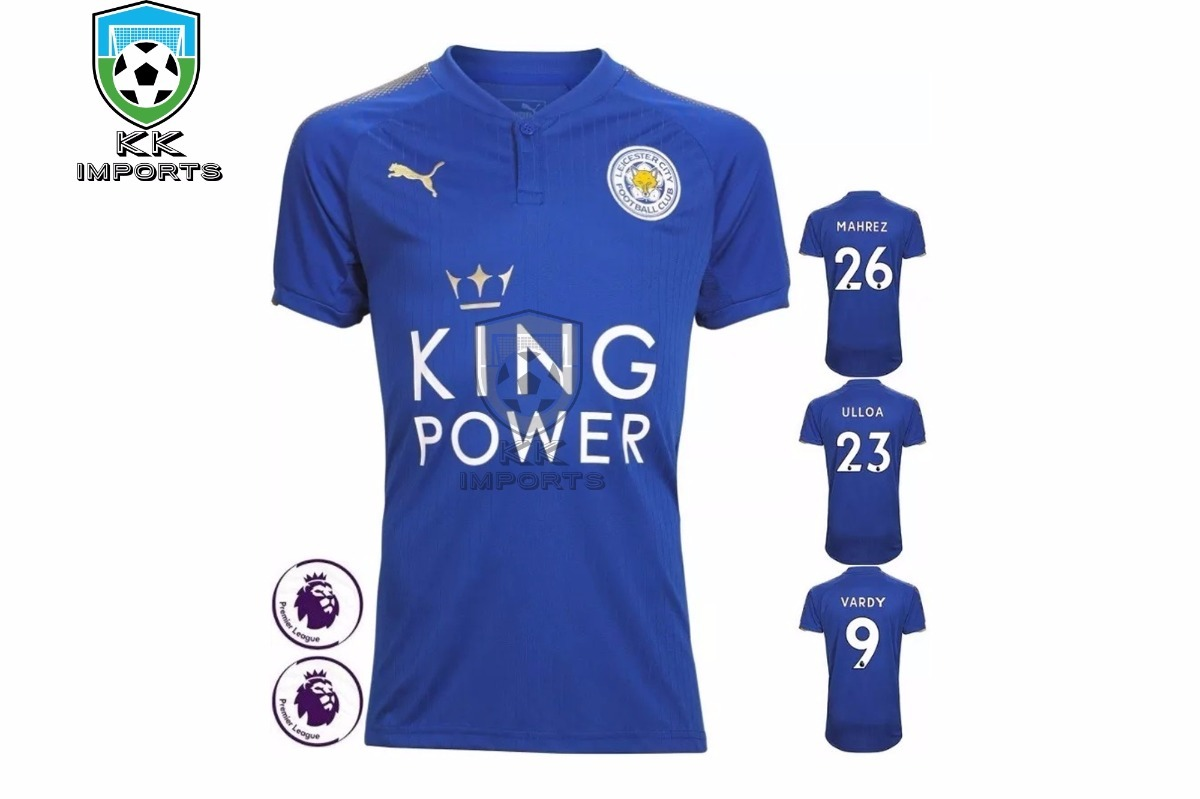 ... camisa leicester city 20172018 uniforme 1 sob encomenda. Carregando zoom.  on feet shots of ... 5e675028ccdc3