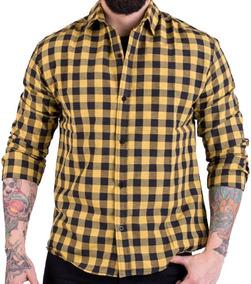 fb6d4f2f7f Camisa Cuadros Leñadora Amarilla Cafe Camisas Chombas Blusas - Ropa ...