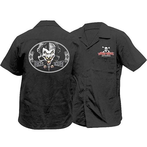 camisa lethal threat bufón negra xl