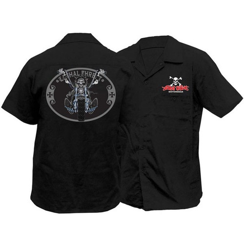 camisa lethal threat chopper piloto negra md