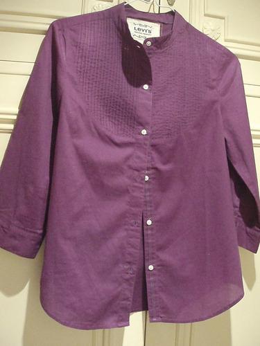 camisa levi's - cuello mao - mujer