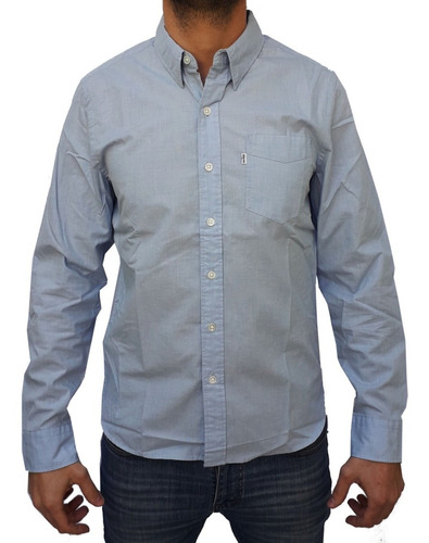 camisa levis lisa hombre manga larga