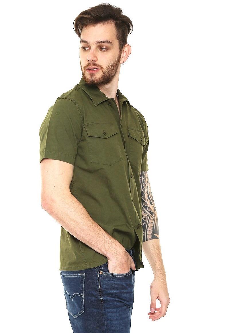 3ec2beb13de camisa levis militar manga corta verde rock punk hipster. Cargando zoom.