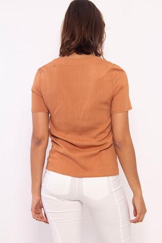 camisa lino elastizado modelo delfina