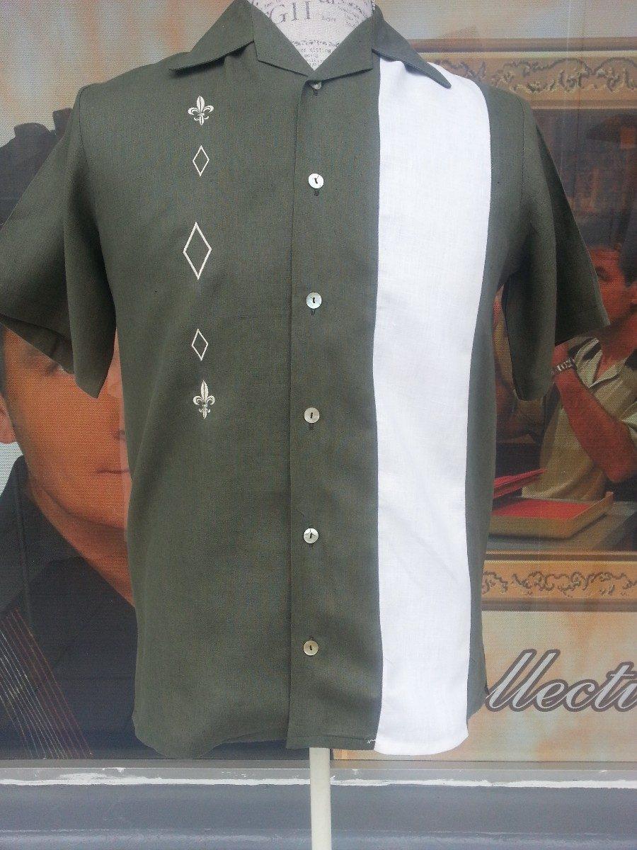 f5f0400e196c4 Camisa Lino Italian Charlie Sheen Boliche Rockabilly Bowling ...
