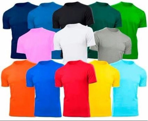 camisa lisa camiseta 30.1 100% algodão - todas as cores
