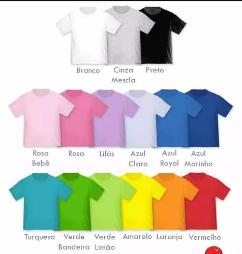 camisa lisa malha 30.1 100% algodão - atacado todas as cores