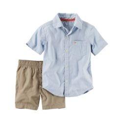 camisa listrada e shorts ,, 24 m carter's importado original