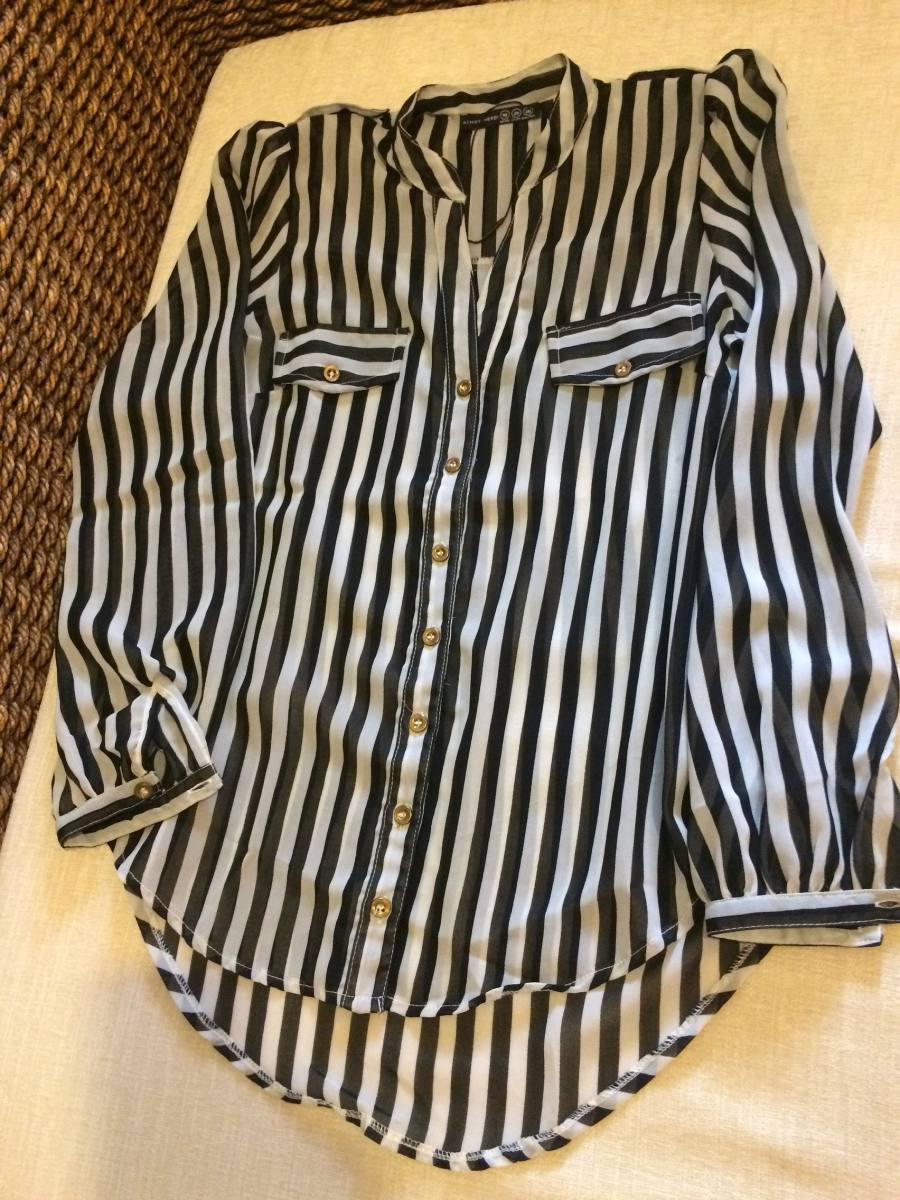 fa1258a747 camisa listrada preto e branca importada da inglaterra. Carregando zoom.