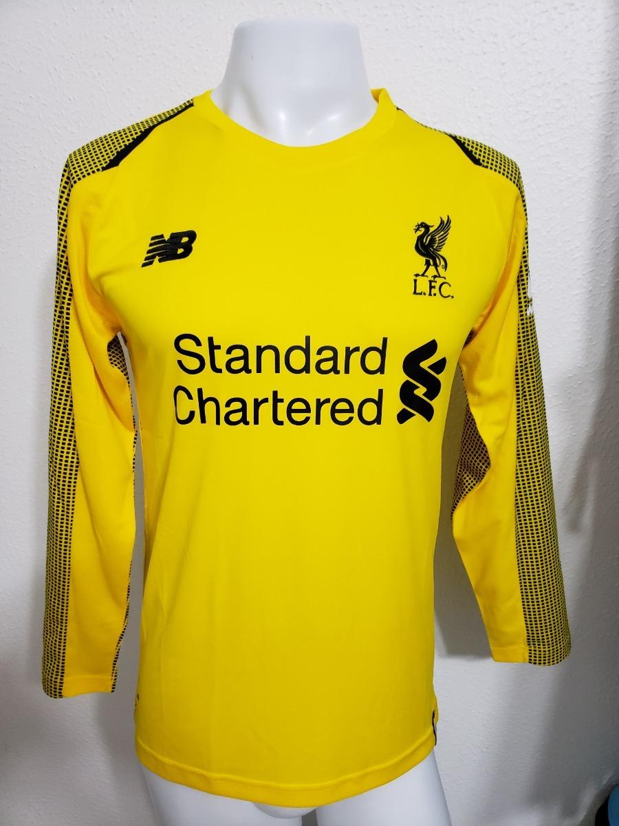 13d5f1941e Camisa Liverpool Amarela Goleiro 18-19 Manga Longa Imp - R  130