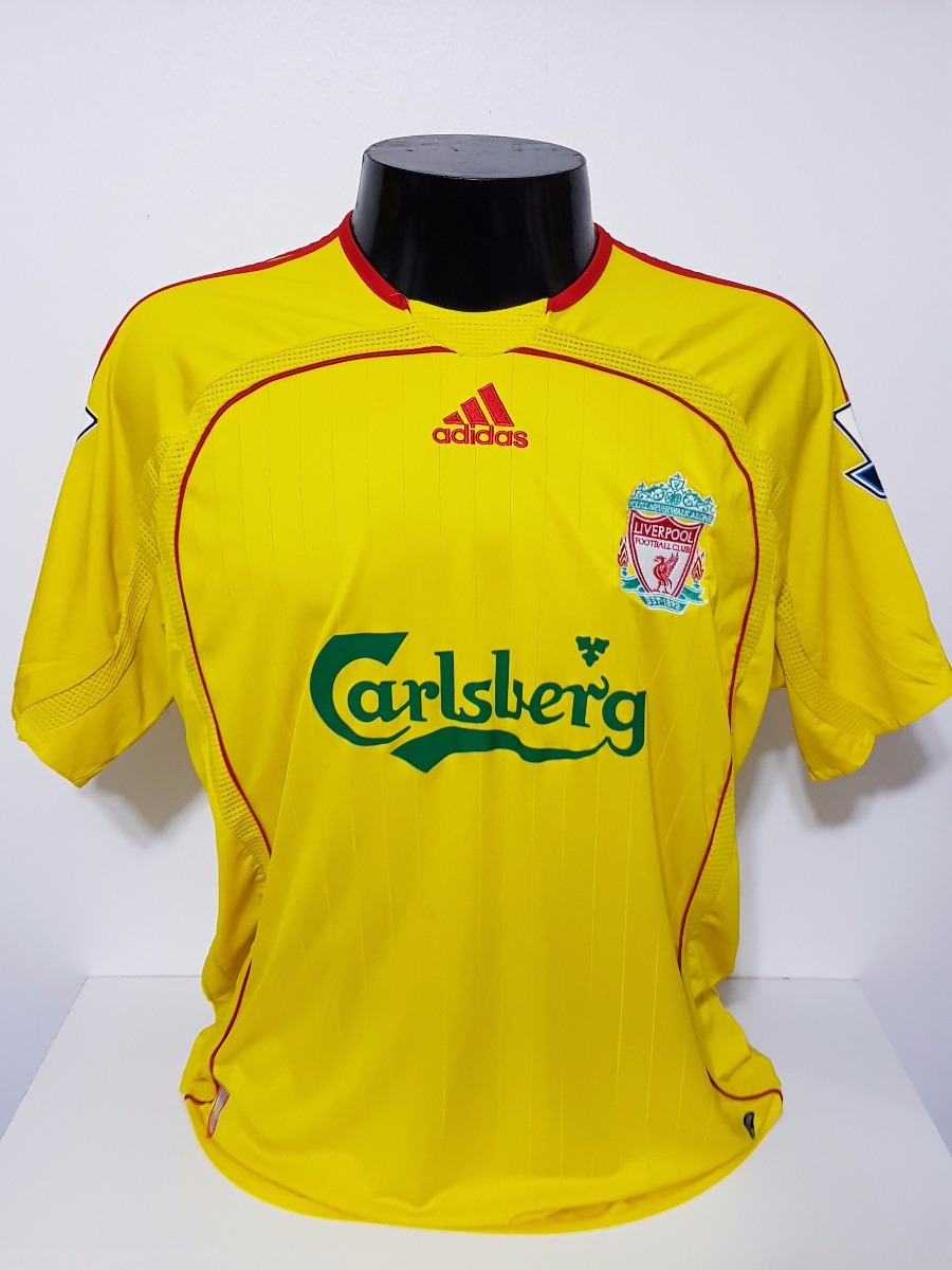 9d211c5208 Camisa Liverpool Away 06-07 Gerrard 8 Patch Premier League - R  100 ...