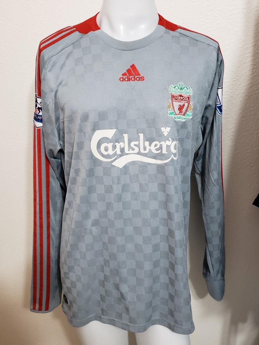 213df2282c Camisa Liverpool Away 08-09 Manga Longa Gerrard 8 Premier - R  200 ...