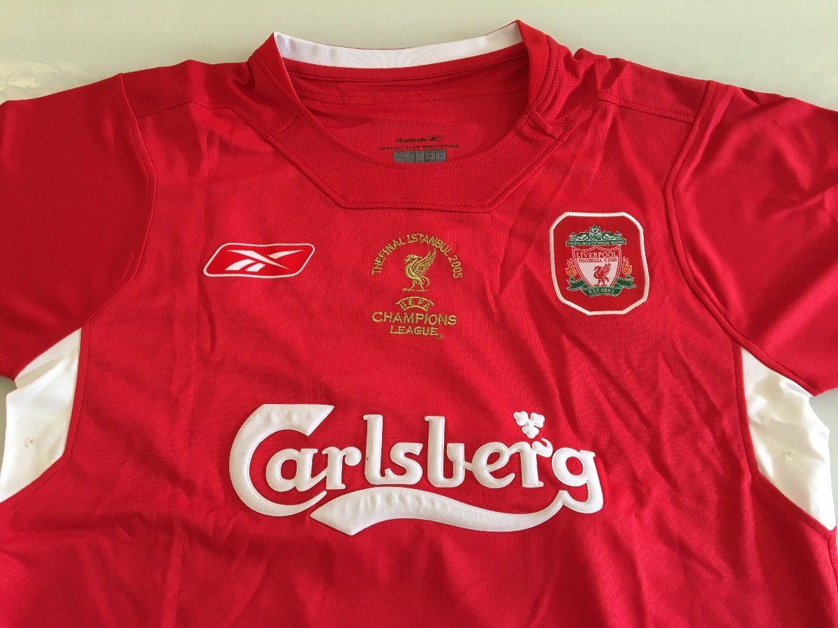 ffa5af2953 camisa liverpool - final champions 2005 -  8 gerrard. Carregando zoom.