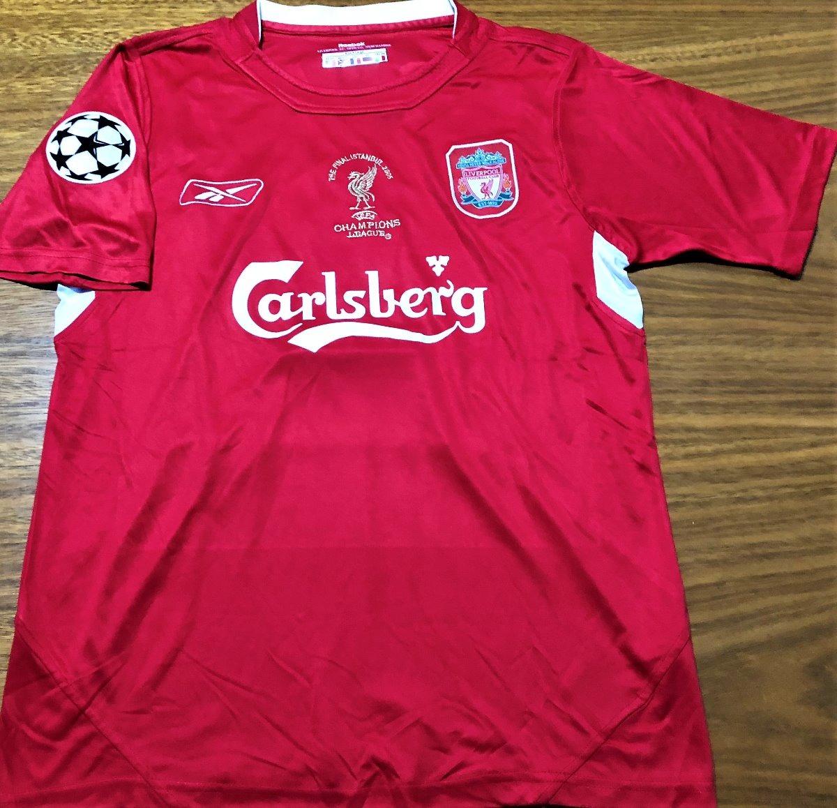 camisa liverpool final champions 2005 autografada gerrard. Carregando zoom. 4050c3f8a578f