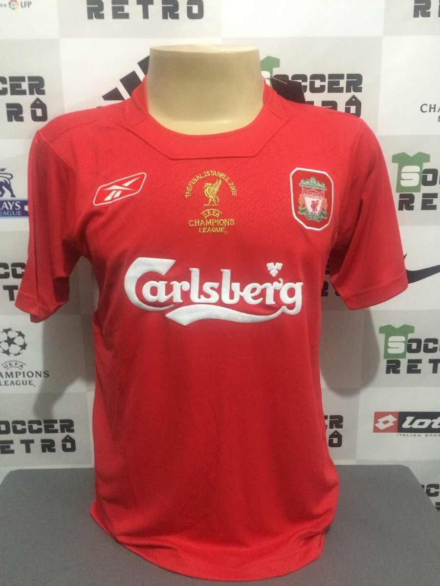 camisa liverpool final champions 2005 gerrard 8. Carregando zoom. 3f0366fe6e479