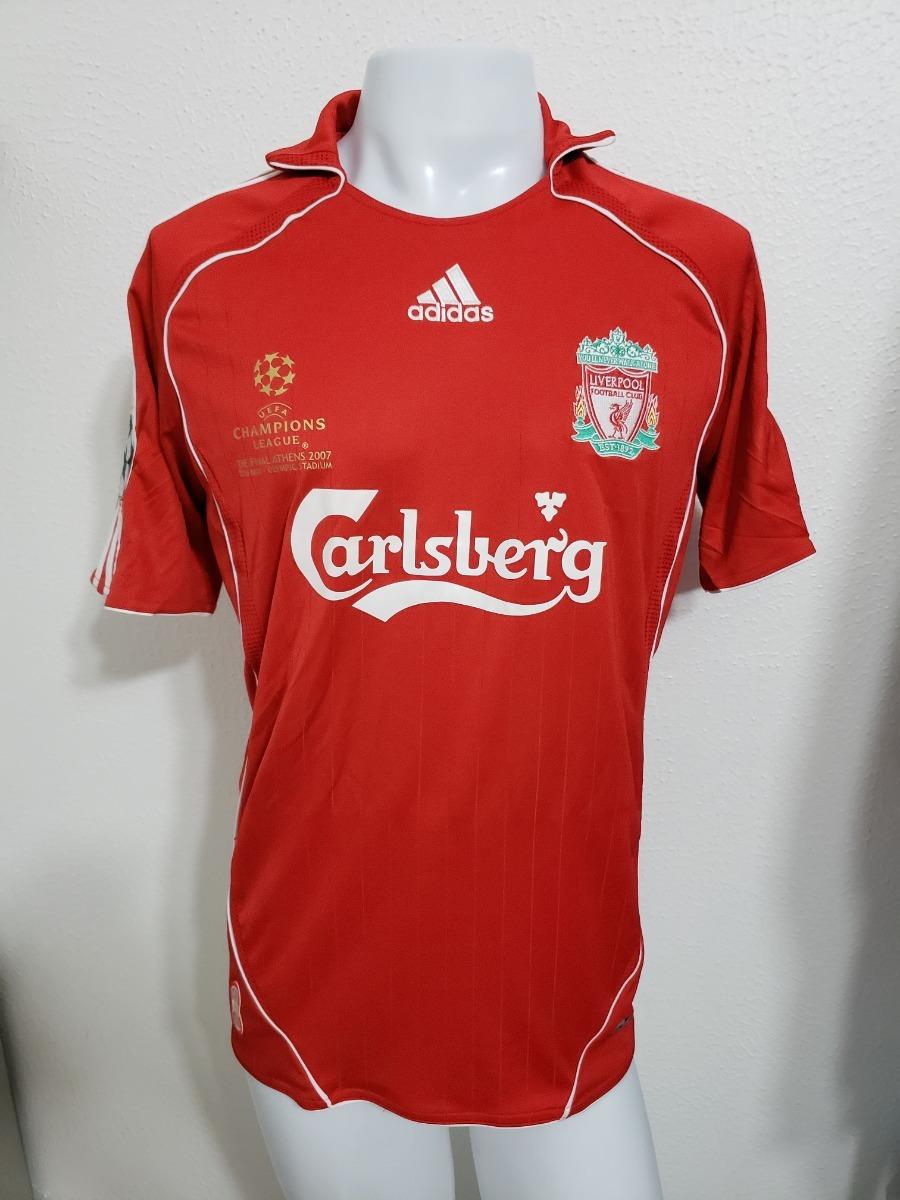 best website d23e1 f4d84 Camisa Liverpool Home 06-07 Gerrard 8 Final Champions