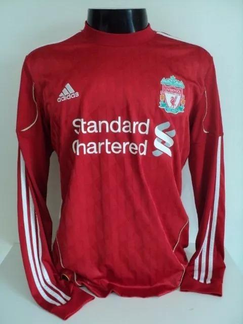 aaabb0a99e Camisa Liverpool Home 08-10 Manga Longa Gerrard 8 Importada - R  200 ...
