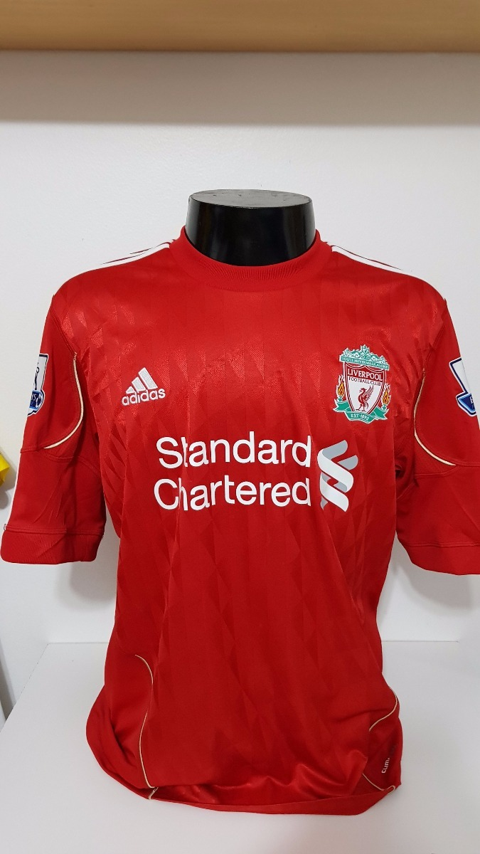 6de848dcba Camisa Liverpool Home 10-11 Gerrard 8 Patch Premier League - R  180 ...