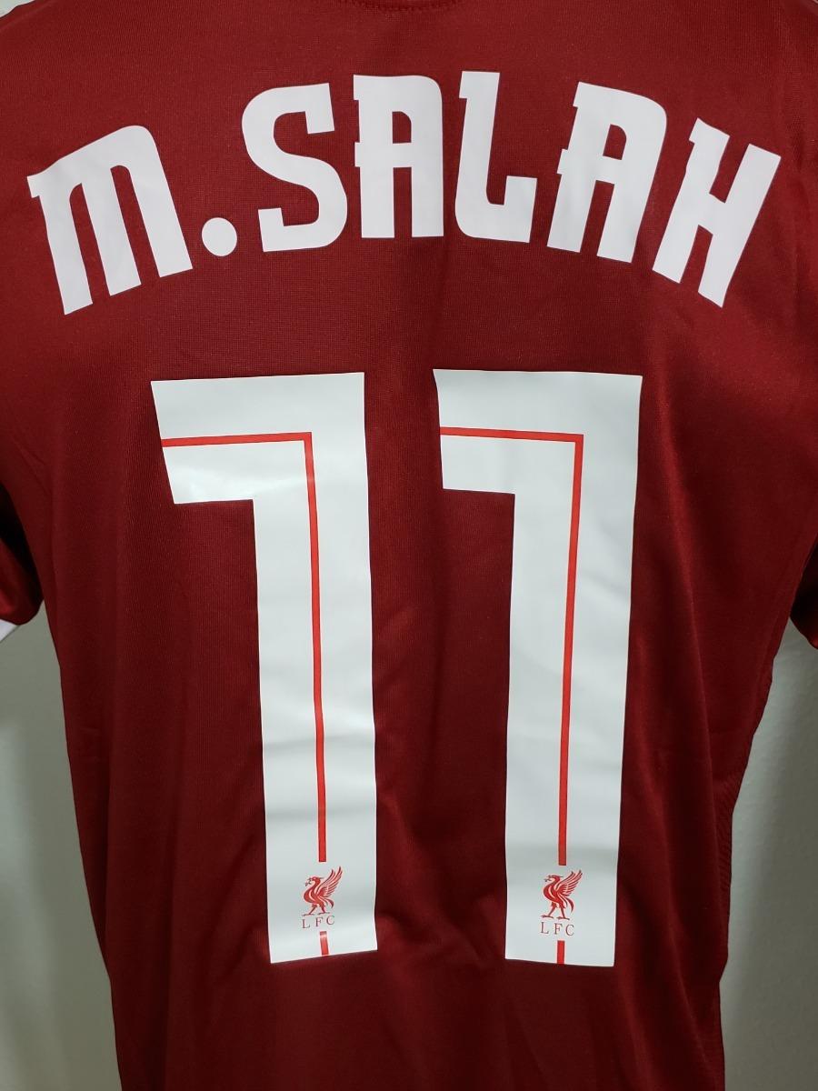 714cfc13b3 Camisa Liverpool Home 17-18 M.salah 11 Final Champions - R  200