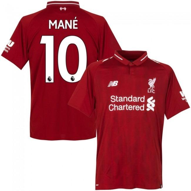 5e4963542f Camisa Liverpool Home 18-19 Mané 10 Importada - R  160