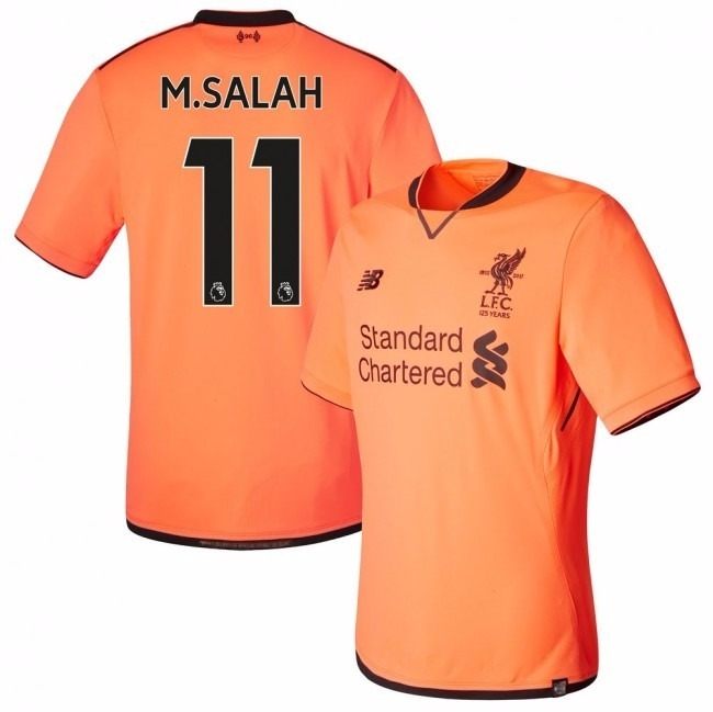 Camisa Liverpool Iii 2018 Laranja Oficial - Salah Firmino - R  120 ... 8fb1cdf92590b