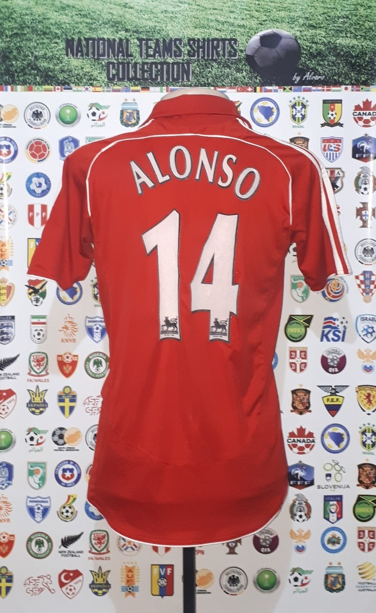 1dec18e8b camisa liverpool inglaterra 2006 home adidas  14 alonso p. Carregando zoom.