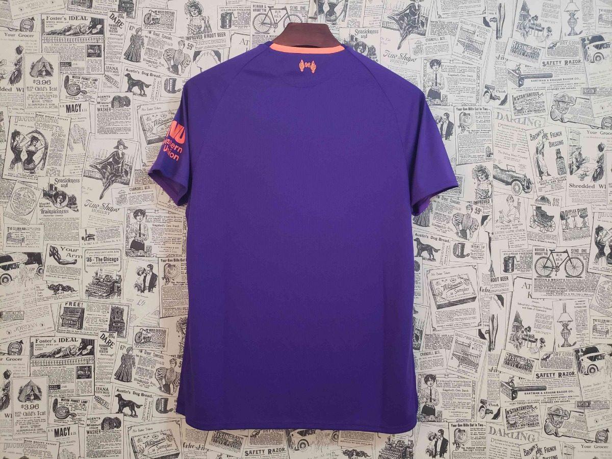61389b5979161 camisa liverpool new balance away 2019 roxa. Carregando zoom.