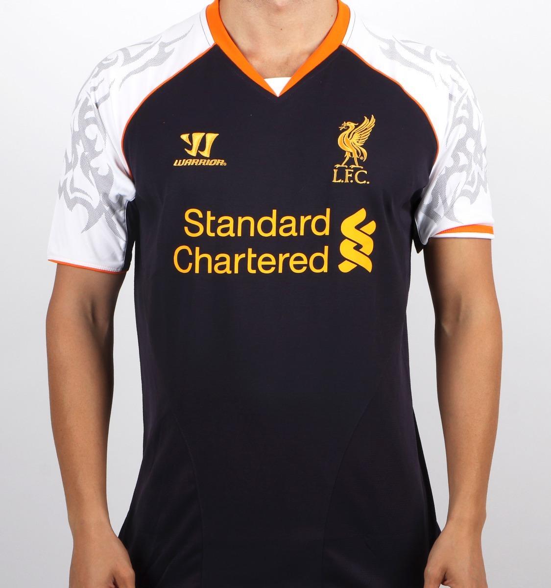 Camisa Liverpool Warrior Original Preta - Inglaterra - R  120 ad74b2663510a