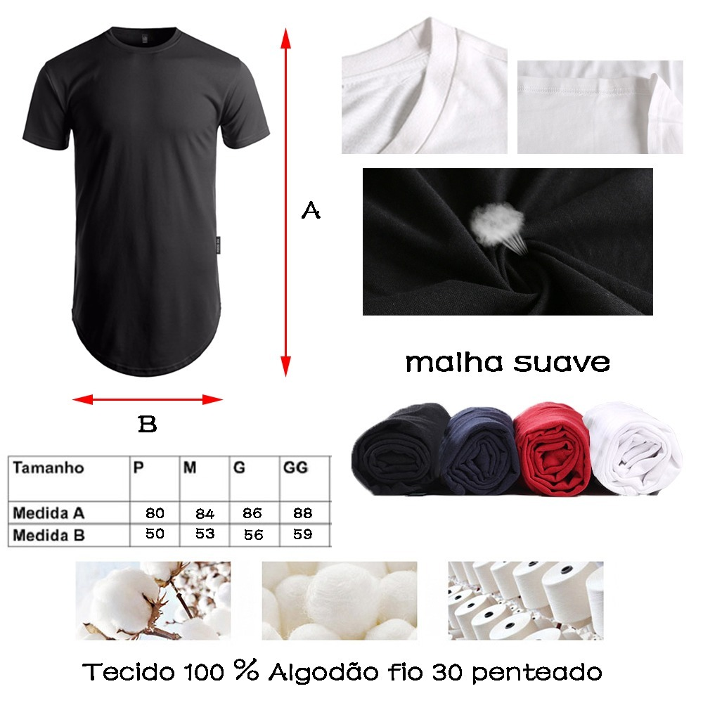 29cfec779 camisa long line camiseta oversized masculina carta fé moda. Carregando  zoom.