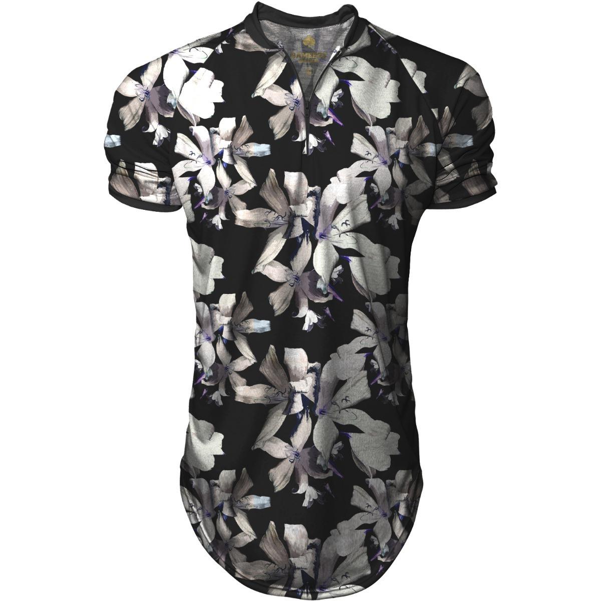 camisa longline masculina gola polo esporte florido swag. Carregando zoom. f3969709c8dc9