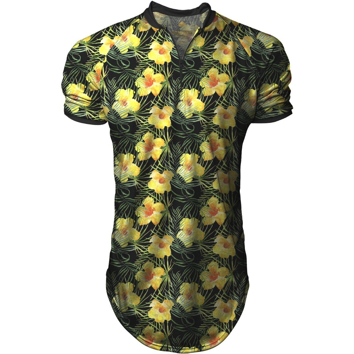 camisa longline masculina gola polo esporte margaridas. Carregando zoom. dacdffe2a7ab6
