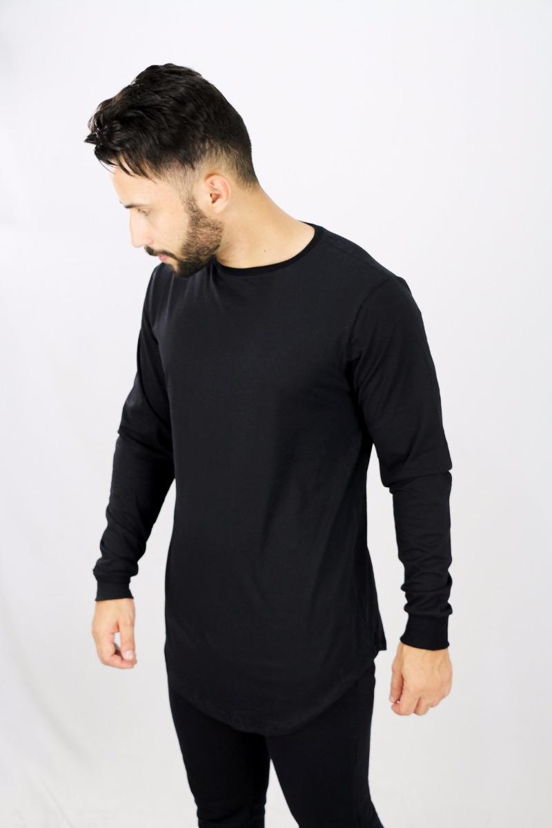 3cf2ef681 camisa longline oversized basica manga longa masculina. Carregando zoom.