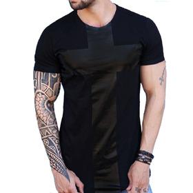 Camisa Longline Swag Camiseta Oversized Blusa Masculina