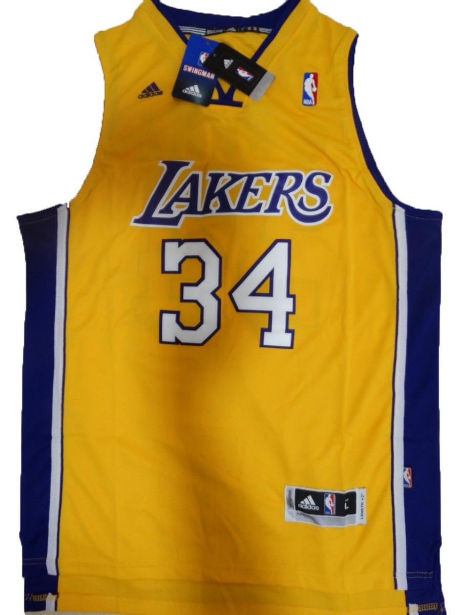 5b61f1f2b Camisa Los Angeles Lakers Oneal O neal Amarela - R  149