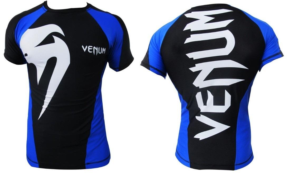 eac1658c837dc camisa lycra giant preto   azul manga curta venum. Carregando zoom.