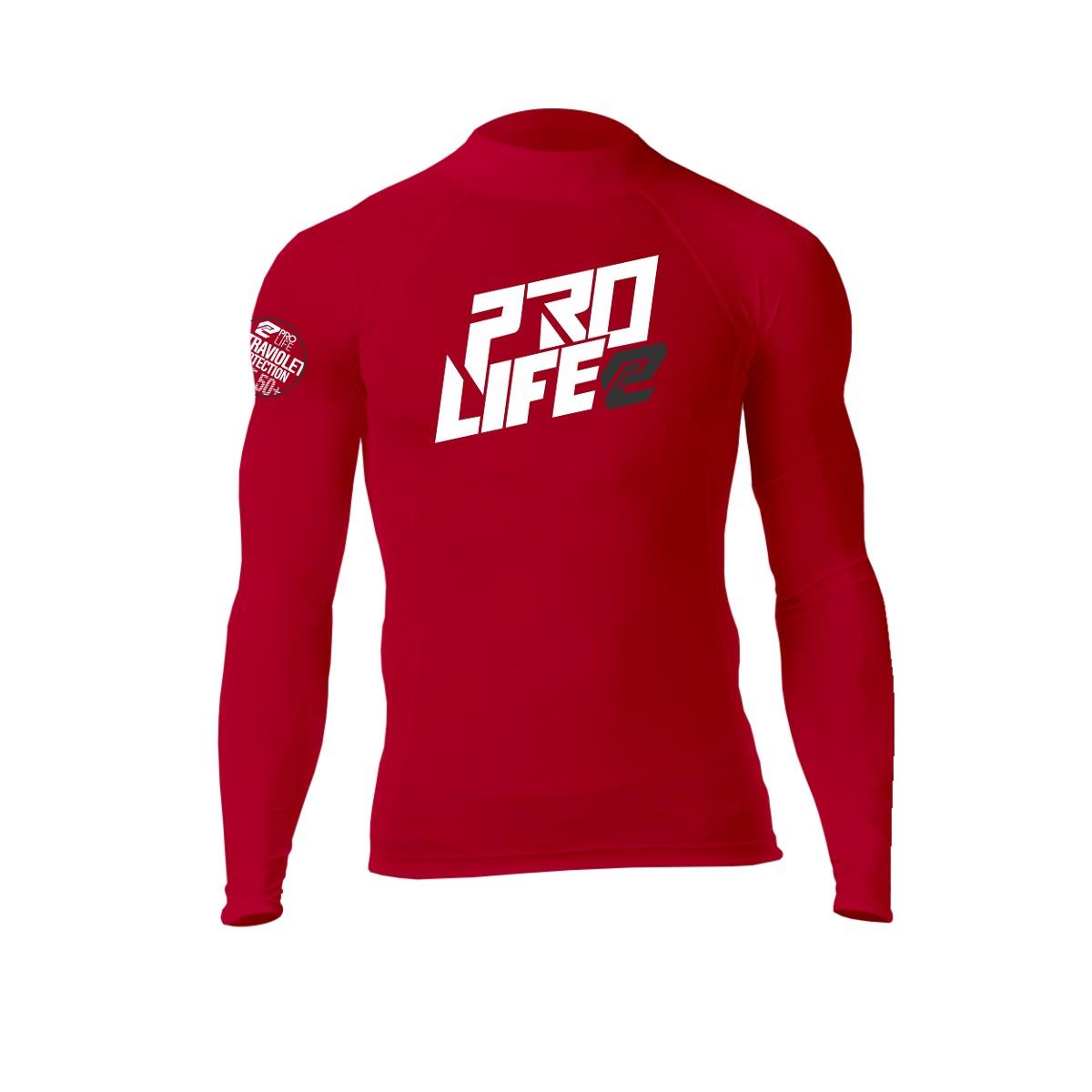 436ef555db23e camisa lycra surf manga longa prolife vermelho tamanho p. Carregando zoom.