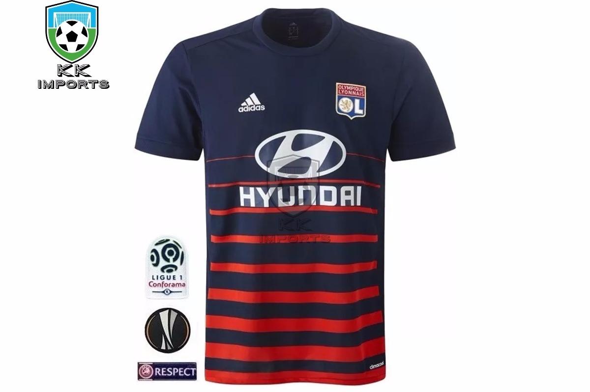 83d8394dffca7 camisa lyon 2017 2018 uniforme 2 sob encomenda. Carregando zoom.