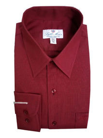 b3d7d9232b Camisa Vestir Color Vino - Camisas Formal de Hombre Larga en Mercado ...