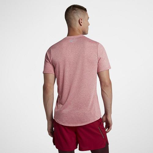 191ec60b69dd4 Camisa Maculina Nike Dri-fit Tailwind - Rosa - R  129